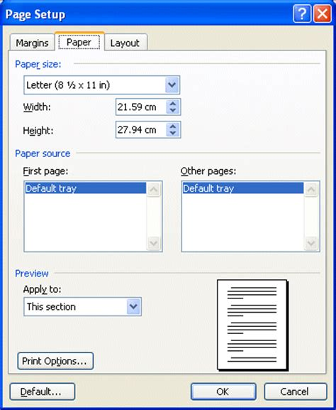 layout options word 2007 microsoft word page layout and printing