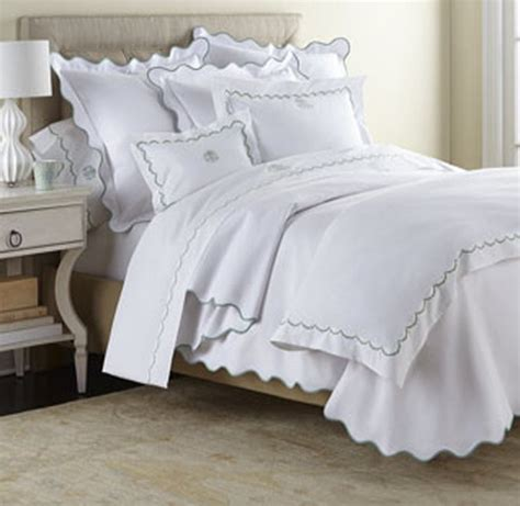 monogrammed comforters scallop bedding collection at the pink monogram