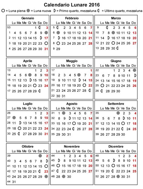 Il Calendario Calendario Lunare 2016 La Gravidanza