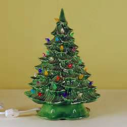 ceramic lighted ceramic christmas tree small from