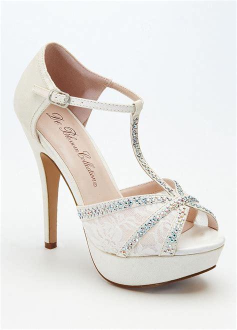 white silver high heels david s bridal wedding bridesmaid shoes high heel