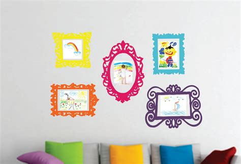 playroom wall stickers wall decal set of 5 frames playroom decor bedroom wall