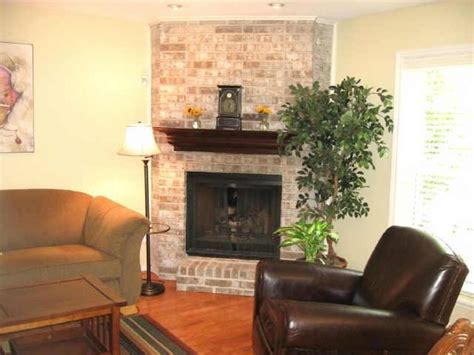 Corner Brick Fireplace by Corner Fireplaces Designs Photos
