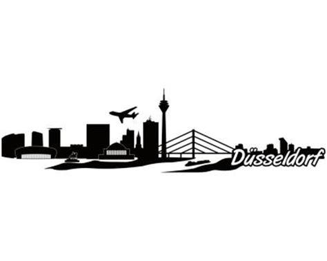 Sticker Drucken D Sseldorf by D 252 Sseldorf Skyline Aufkleber Sticker Autoaufkleber City 4
