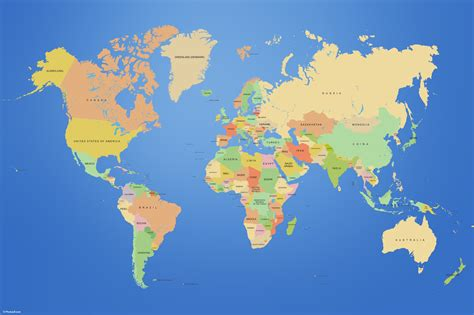 map world of and maps countries world