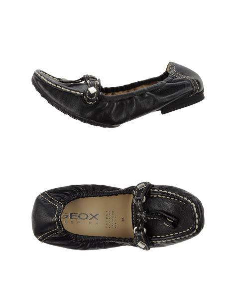 geox flat shoes geox ballet flats in black lyst