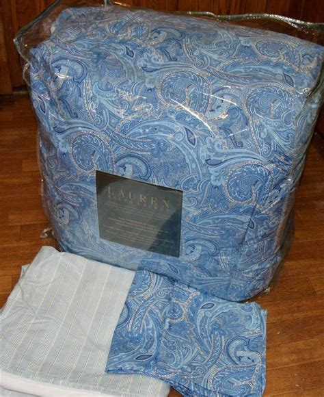 ralph lauren conservatory bedding ralph charles paisley blue king comforter set new 1st quality house