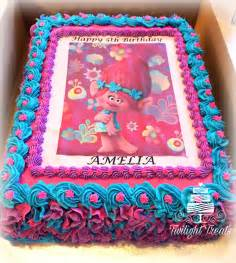 poppy troll themed cake with edible print and buttercream celebration cakes pinterest