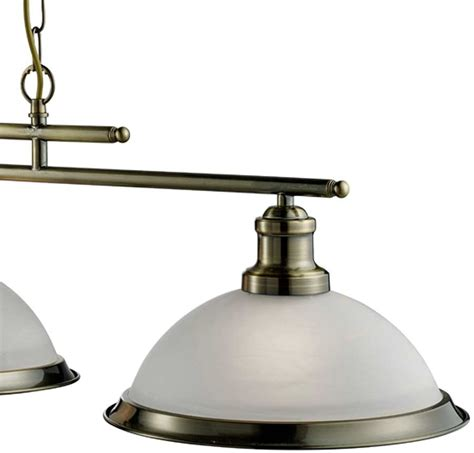 Retro Kitchen Lighting Bistro Retro Antique Brass 3 L Kitchen Pendant Light Bar 2683 3ab