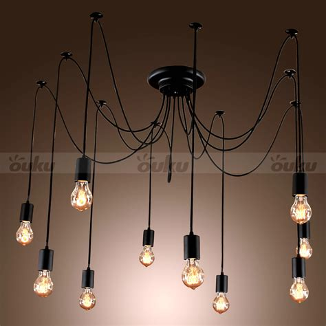 chandelier with edison bulbs 10 lights bulbs edison chandelier ceiling light pendant