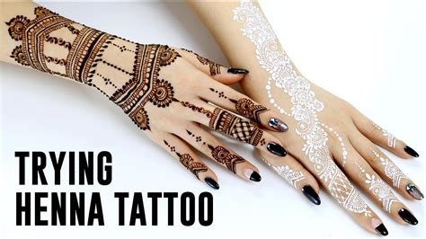 henna tattoo on youtube trying henna