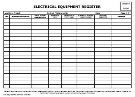 register electrical equipment allsafety management