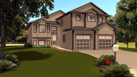 bi level house plans with garage 1 e designs