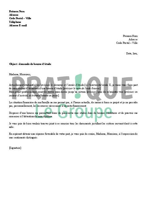 lettre de motivation bourse etude lettre pour une demande modele de lettre administrative jaoloron