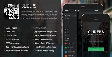themeforest drag mobile tablet responsive template gliders mobile tablet responsive template by enabled