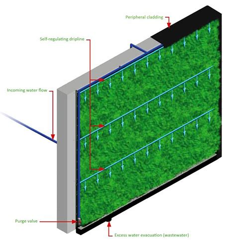 Vertical Garden Irrigation System Vertical Garden Benefits Vertical Gardens Living Walls