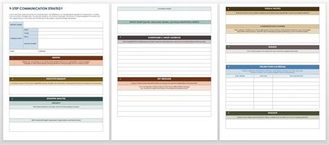 Free Communication Strategy Templates And Sles Smartsheet Strategic Message Planner Template