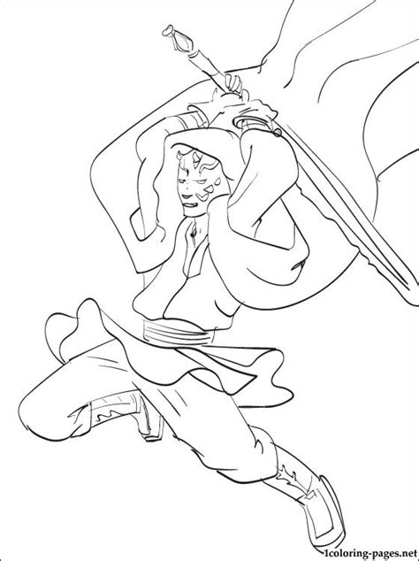 star wars darth maul coloring page free coloring pages of darth maul to color in