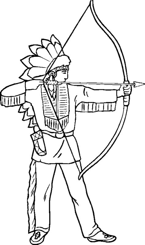 free coloring pages of native american indians