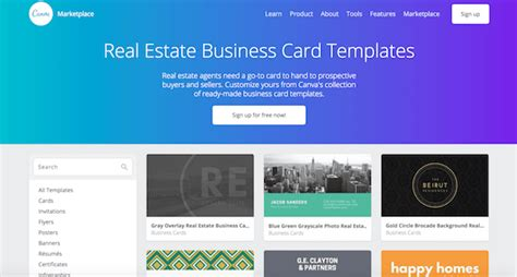 https www canva templates business cards sold real estate business card ideas the garage