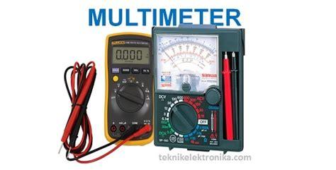 Multitester Listrik Cara Menggunakan Multimeter Multitester