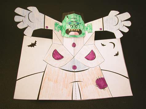 frankenstein pop  card robert sabuda method