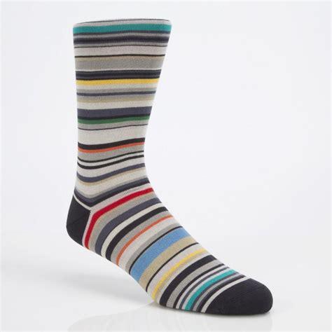 Stripe Socks paul smith striped cottonblend socks in gray for lyst