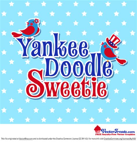 yankee doodle royalty free 4th of july yankee doodle sweetie free vectors clipart me