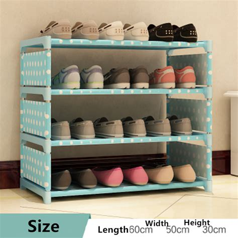 Simple Diy Shoe Rack Storage The Door For Small And Narrow Closet Spaces Ideas Shoe Cabinet Shoes Storage Organizer Thick Non Woven Fabric Shoe Racks Home Furniture Diy Simple