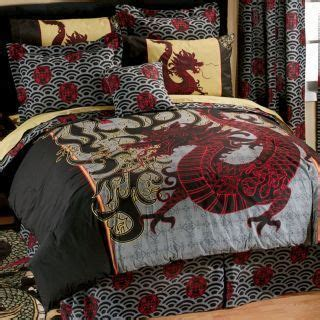boy girl oriental asian dragon full comforter sheet bed