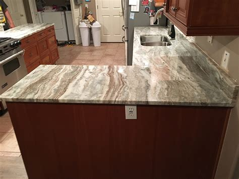 Tiles And Backsplash For Kitchens by Brown Fantasy Quartzite Countertops By Granite Perfection