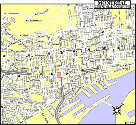 printable map montreal montreal tourist map montreal mappery