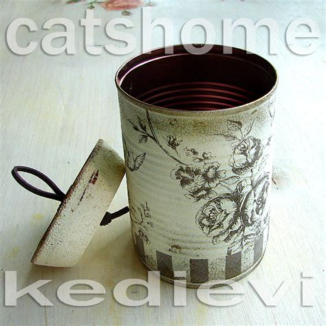 Can You Decoupage On Metal - decorative tins made by napkin decoupage 4 by catshome on
