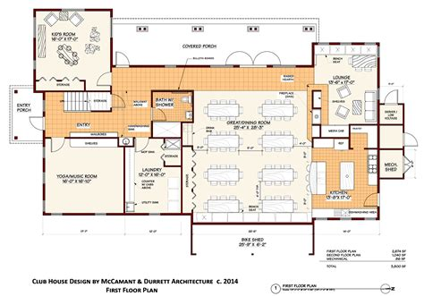 club floor plan club house plans fair oaks ecohousing