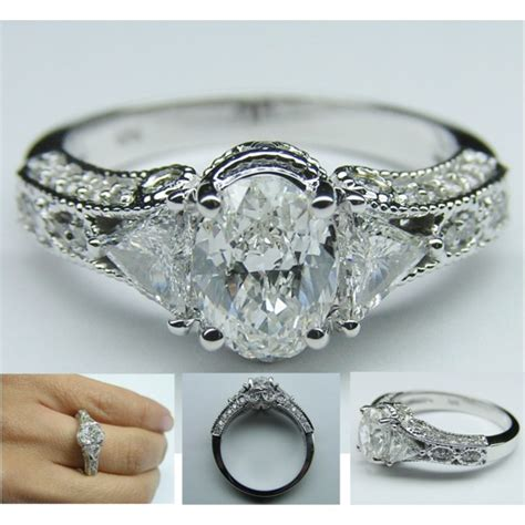 vintage oval engagement ring polyvore
