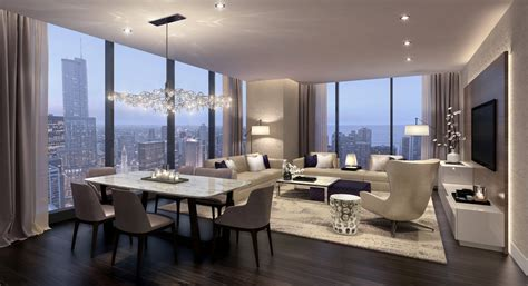 Blue And Brown Bedroom Decorating Ideas see condo interiors at jeanne gang s new chicago high rise