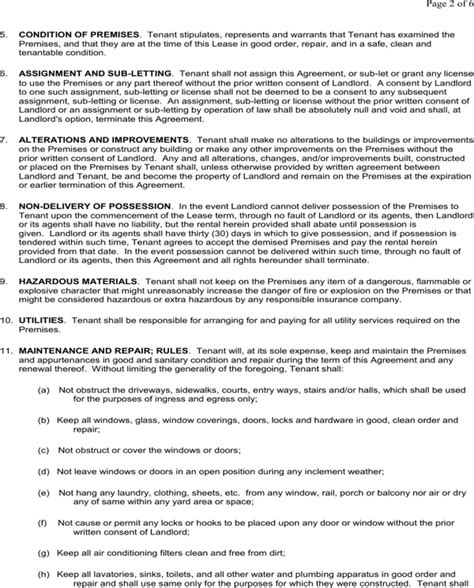 Download Iowa Residential Lease Agreement Form For Free Page 2 Formtemplate Iowa Lease Agreement Template