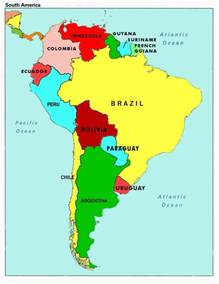 map of usa and south america map of south america countries and capitals map of south