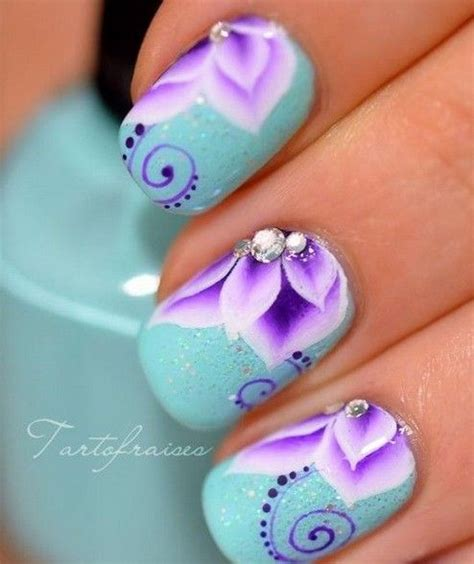 purple flower nails nail designs why not put flowers on nails purple nail