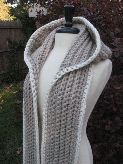 free knitting pattern hooded scarf pockets hooded scarf new 335 how to crochet a hooded scarf with