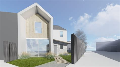 semi detached home design news new build semi detached house extension architecture
