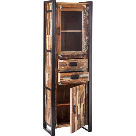 rustic wood display cabinet iron reclaimed wood rustic display cabinet 185cm buy