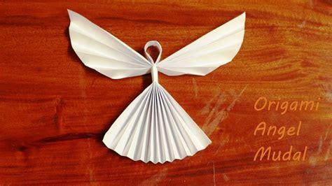 cara membuat hiasan natal malaikat membuat origami malaikat mudah origami angel for kids