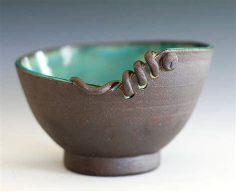 Handmade Clay Pottery - modern handmade ceramic bowl from ocpottery on etsy for