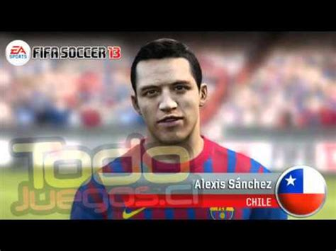 alexis sanchez ranking fifa cara face alexis sanchez fifa 13 youtube