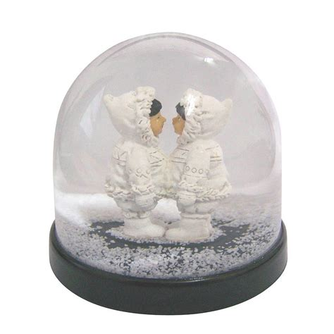 girls eskimo snow globe by lime lace notonthehighstreet com