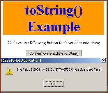 format date javascript to string javascript tostring method
