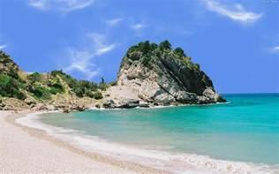 Sea beach cliff greece samos the beach on the samos island