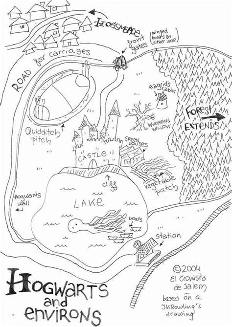 layout drawing en francais hogwarts environs based on rowling s map the harry