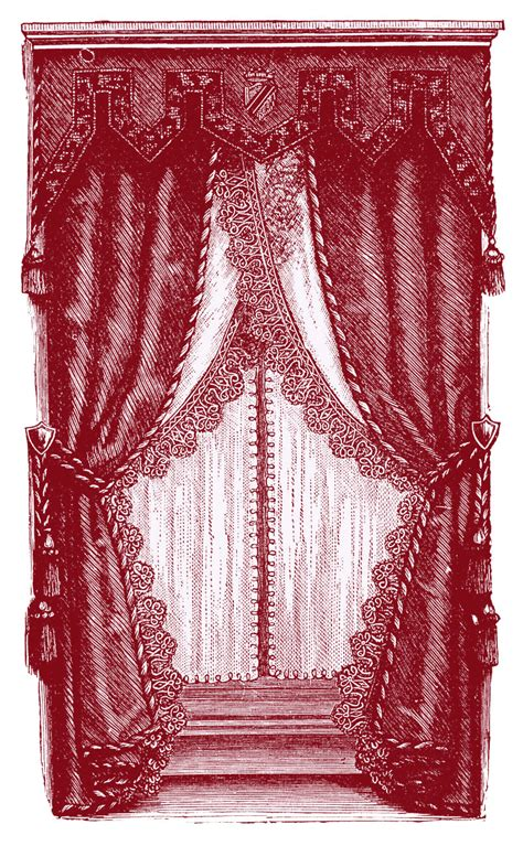vintage curtain vintage clip art fancy victorian curtains draperies